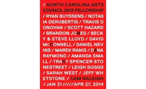 NC Arts Council Artist Fellowship Award Exhibition