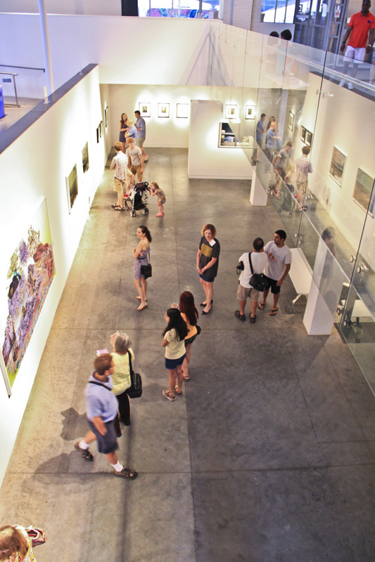 View from above: Independent Weekly gallery at CAM Raleigh