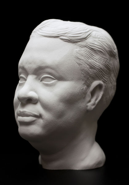 McArthur Freeman, II, Poly-faces, 2011 Digital 3D print