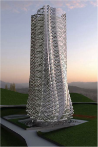 Atelier Manferdini, Fabric Tower, 2009 (Competition entry)