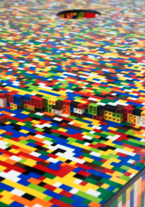 Michael Falk. Lego table, details 2011