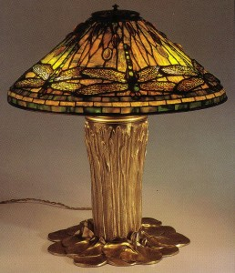 Tiffany Studioa, Dragon Fly lamp, 1900-10