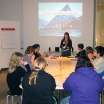 Exploris student docent training in the classroom