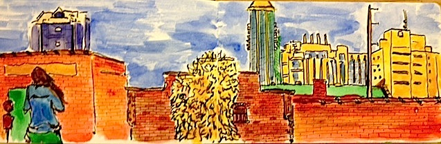 Urban Sketching Group, painting by Scott Renk