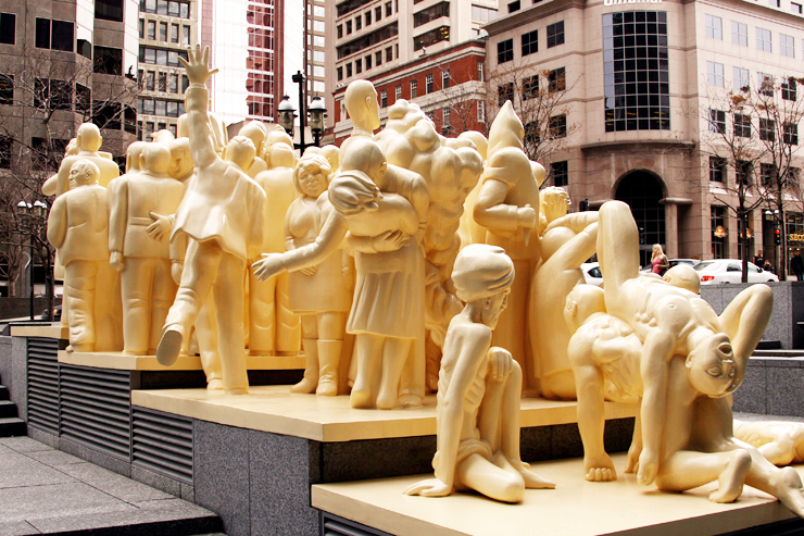The Illuminated Crowd Public Art in Montreal