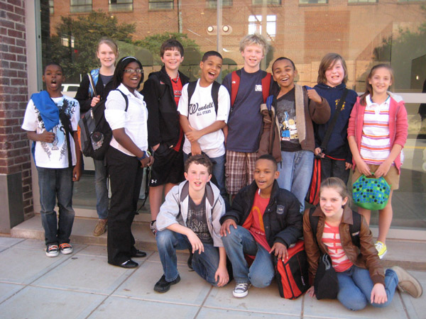 image of 12 student docents