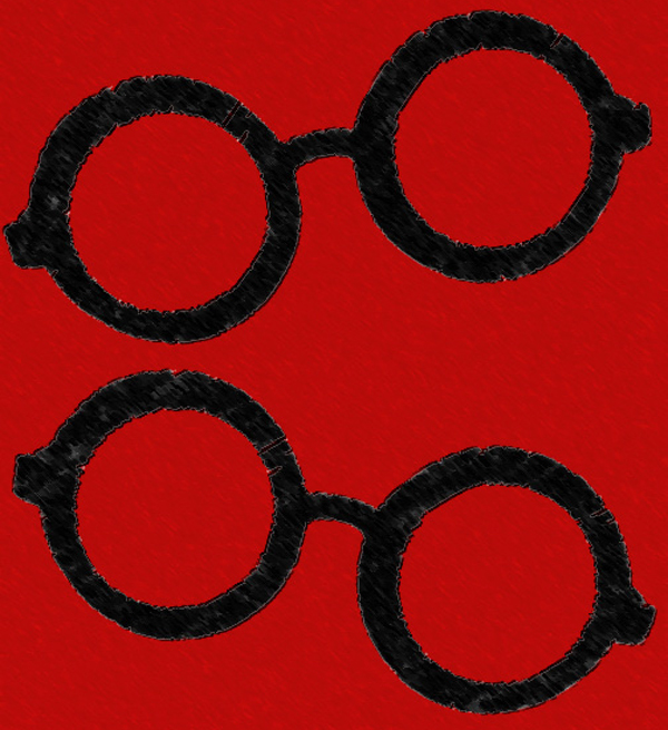 Marvin Malecha - Glasses on red background
